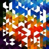 抽象五颜六色的背景由三角EPS10传染媒介制成 免版税库存图片