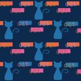 抽象五颜六色的自然幻想猫背景设计 免版税库存图片