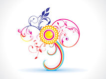 抽象五颜六色的花卉花 图库摄影