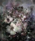 抽象五颜六色的花水彩绘画 春天 向量例证