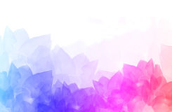 抽象五颜六色的花背景例证 免版税库存照片