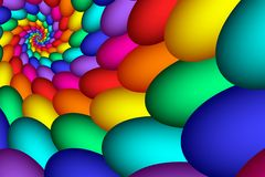 抽象五颜六色的蛋彩虹 免版税库存图片