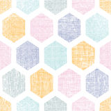 抽象五颜六色的蜂窝织品构造了无缝的样式背景 免版税库存照片