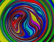 抽象五颜六色的螺旋漩涡背景墙纸 库存照片