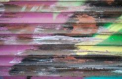 抽象五颜六色的街道画片段 图库摄影