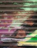 抽象五颜六色的街道画片段 免版税库存照片