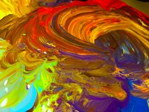 抽象五颜六色的被绘的背景 免版税库存照片