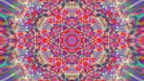 抽象五颜六色的被绘的万花筒图表背景 与纹理的未来派荧光的催眠背景样式 免版税图库摄影