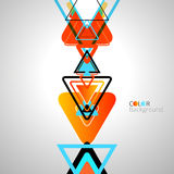 抽象五颜六色的设计三角背景 库存图片