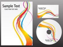 抽象五颜六色的设计彩虹模板 免版税库存照片