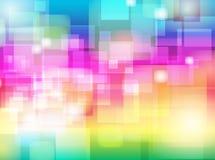 抽象五颜六色的迷离Bokeh背景设计 免版税库存照片