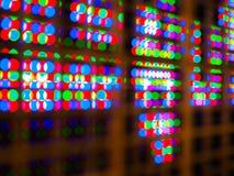抽象五颜六色的迷离de焦点RGB带领了屏幕背景 库存图片