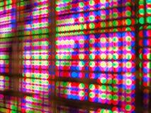 抽象五颜六色的迷离de焦点RGB带领了屏幕背景 免版税库存照片