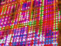 抽象五颜六色的迷离de焦点RGB带领了屏幕背景 库存照片