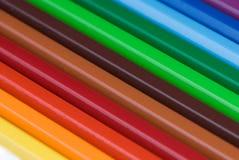 抽象五颜六色的铅笔 免版税库存照片