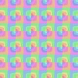 抽象五颜六色的长方形无缝的样式 库存照片