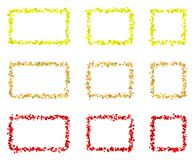 抽象五颜六色的长方形框架由小正方形做成 免版税库存照片