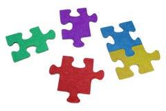 抽象五颜六色的难题 库存图片