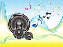抽象五颜六色的音乐声音墙纸通知 图库摄影