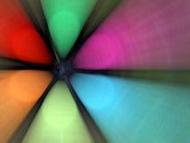 抽象五颜六色的风扇 免版税库存图片