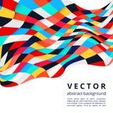 抽象五颜六色的马赛克正方形设计 库存照片