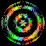 抽象五颜六色的织地不很细Cicles背景 免版税库存图片