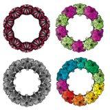 抽象五颜六色的结构圆环 图库摄影