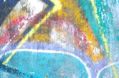 抽象五颜六色的水泥墙壁纹理 难看的东西背景 设计的老墙壁背景 免版税库存照片
