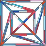 抽象五颜六色的建筑结构传染媒介 库存图片