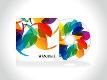抽象五颜六色的CD的盖子模板 免版税库存图片