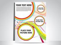 抽象五颜六色的flayer 库存图片