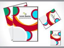 抽象五颜六色的flayer 免版税库存照片