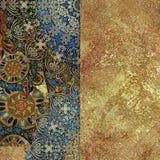 抽象五颜六色被仿造的和金黄backgraund 库存图片