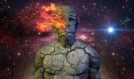 抽象人的概念02黑暗天空 免版税图库摄影