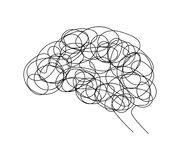 抽象人脑乱画手拉的样式 向量例证