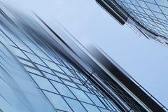 抽象企业现代城市都市未来派建筑学背景 房地产概念,行动迷离,反射 库存图片