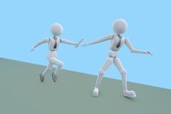 抽象企业竞争 向量例证