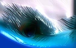 抽象传染媒介多彩多姿的孔雀羽毛遮蔽了与光线影响,传染媒介例证的织地不很细波浪背景 向量例证