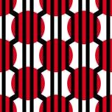 抽象传染媒介无缝的欧普艺术样式 五颜六色的图表装饰品 库存图片