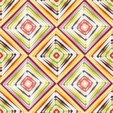 抽象传染媒介无缝的欧普艺术样式 颜色流行艺术,图表装饰品 光学的幻觉 免版税图库摄影