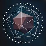 抽象传染媒介晶体结构 图库摄影