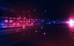 抽象传染媒介蓝色技术概念 背景画廊例证更多我 免版税图库摄影