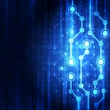抽象传染媒介蓝色电路板技术概念 背景画廊例证更多我 免版税库存图片