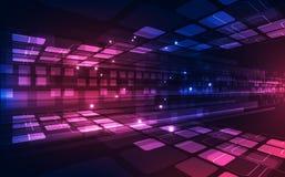 抽象传染媒介速度数字技术概念 背景画廊例证更多我 免版税库存图片