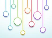 抽象传染媒介3d五颜六色的10个步圈子Infographic 向量例证