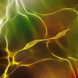 抽象传染媒介五颜六色的波浪滤网背景 点云彩列阵 混乱光波 免版税库存图片