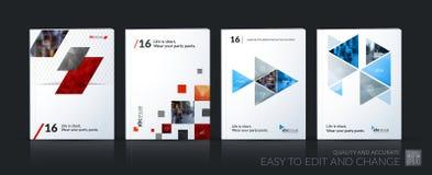 抽象传染媒介企业模板 小册子布局,包括现代 库存例证