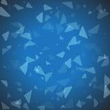 抽象传染媒介几何蓝色背景 免版税库存照片