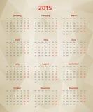 抽象传染媒介多角形日历 免版税图库摄影