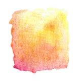 抽象传染媒介手拉的水彩背景 图库摄影
